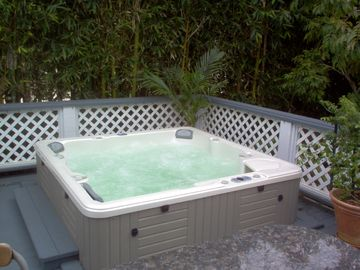 Relax in the Deluxe 45 Jet Jacuzzi