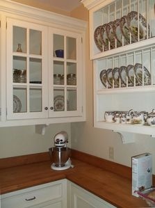 Walk in pantry- Spode China, Maple counters tons of storage