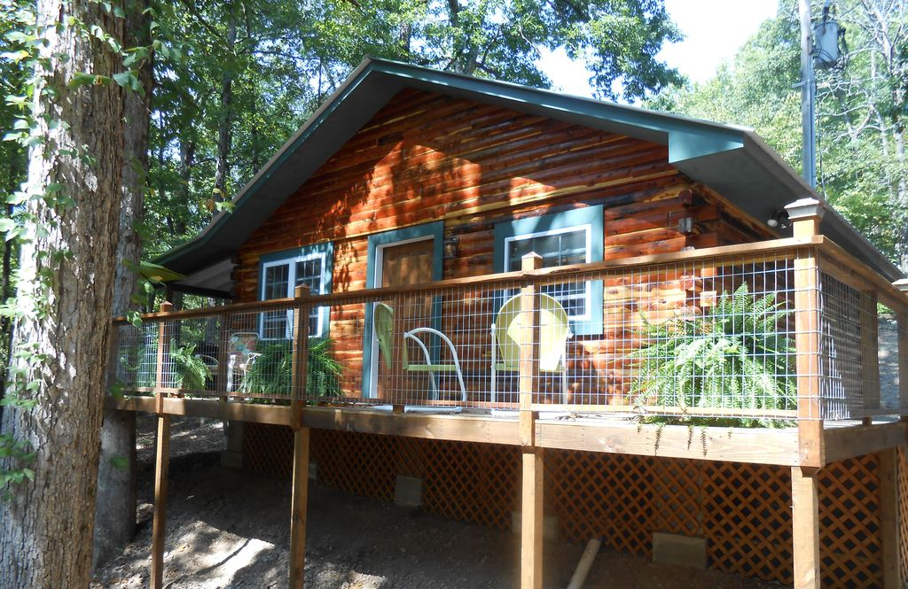 Caddo River Log Cabin Near Lake Ouachita Homeaway Norman