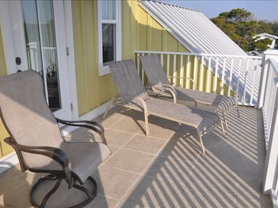Crystal Beach house rental - Balcony off Game Room