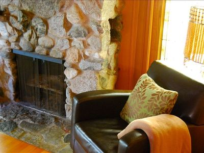 Beautiful fireplace in the main room!!