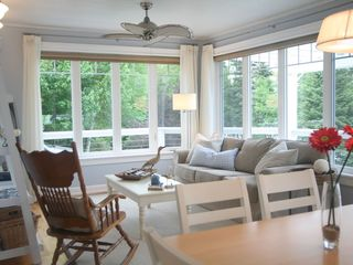 Stanley Bridge cottage photo - Our cozy nautical living room. Bright and oh so comfortable.