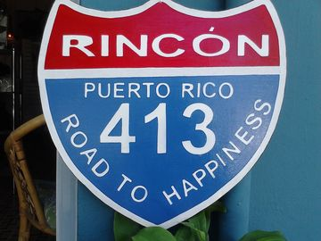 Rincon, PR, Road 413 'The Road to Happiness'