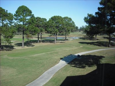 View from balcony overlooking the golf course.