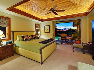 King Master Suite I - opening onto Lanai, Pool/Spa