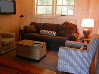 Sapphire cottage photo - Cozy Living/TV Room with Queen Size Sleeper Sofa.