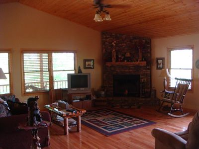Murphy cabin rental - Living Room