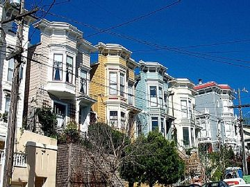 Classic San Francisco Victorian homes in our neighborhood.