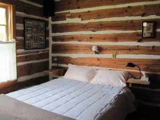 Gardiner cabin photo - main floor bedroom.queen bed.