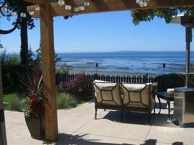 Great spot to relax and enjoy the view. Beach is accessed through gate.