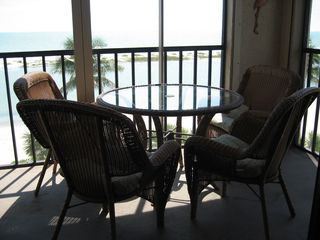 Fort Myers Beach condo photo - Enjoy breakfast on the balcony