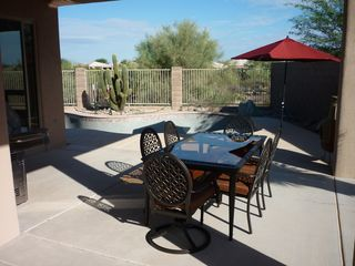 Marana house photo - View of pool from master suite onto patio.