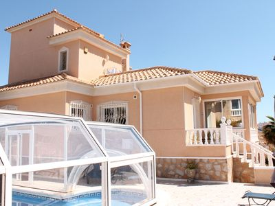 Executive style, Fully Air Conditioned, Private villa with heated swimming pool.