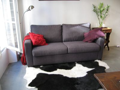 Living area - sofa bed