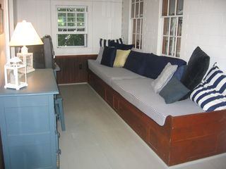 Brewster cottage photo - Two bunks - enclosed porch