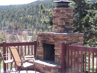 Woodland Park house photo - Enjoy the wonderful outdoor fireplace!