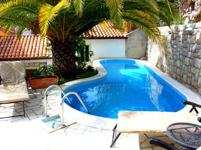 Dubrovnik villa rental - Cool off in the refreshing private swimming pool.