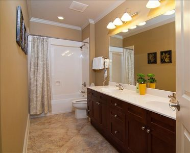 Third Bedroom Bath, Duel Vanities, Tub with Shower