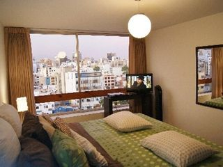 Lima condo photo - Master with luxury King Bed and Linens, HD TV, DVD, Great City Views