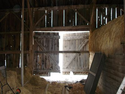 The original barn in West Bethel from which the antique timbers came