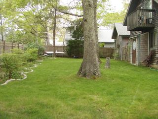 Vineyard Haven house photo - Back yard May 15,212. Little deck up off the loft.