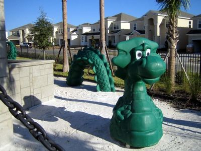 30 ft Dragon Guarding the Castle-themed Playground