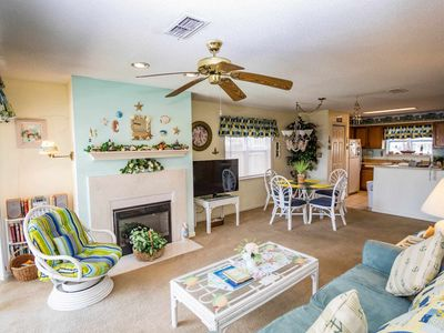 "Cute ""beachy"" decor says vacation every day."
