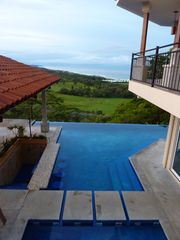 Playa Hermosa estate photo - View of Kiddie Pool and Endless Pool from Observation Deck