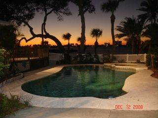 Clearwater Beach house photo - Pool at Sunset