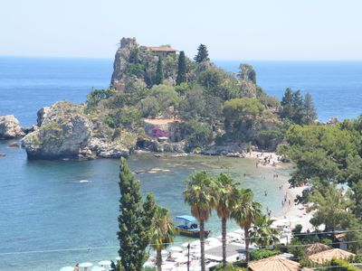 Lucia's House in the bay of Taormina with view sea