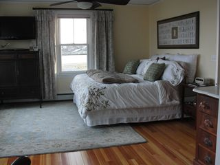 Jamestown (Conanicut Island) house photo - View #1 - Comfortable master bedroom with king temperpedic