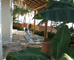 Bucerias villa photo - Patio in front of Casa Inglesa