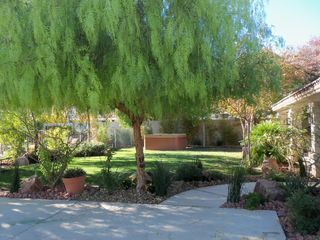 Las Vegas house photo - Beautiful Backyard with Pool, Spa, Covered Patio and Casita