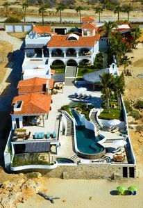 A birds eye view of Casa La Laguna. Quite a compound...
