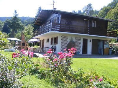 Lorraine; Beautiful peaceful chalet with stunning views