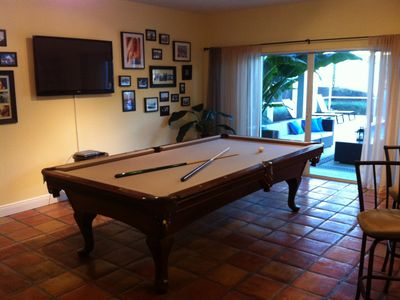 South Miami house rental - Billiard Room (with direct access to patio and pool)