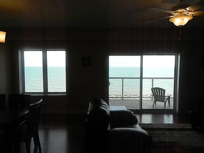 Enjoy the views of Lake Erie from inside this direct lakefront luxury condo.