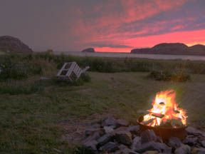 Twillingate cottage photo - Bonfire on propery