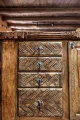 Santa Fe house photo - Example of hand carved detail work through out the house
