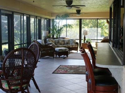 Spacious Lanai with TV and Stereo