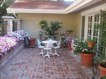 Carmel house rental - View of the Courtyard at the Front of Our Carmel Vacation Home Rental