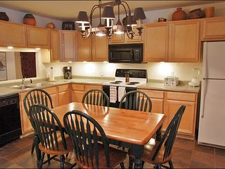 Steamboat Springs townhome photo - Updated Eat-In Kitchen, Fully Equipped with Slate Tile & Great Lighting.