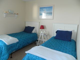 Carolina Beach condo photo - Two twin beds in the second bedroom with new comforters.