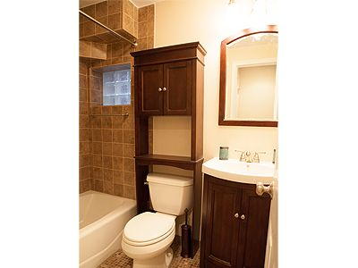 Capitol Hill apartment rental - Shower curtain is there- just out of view. Window faces west, into private yard.