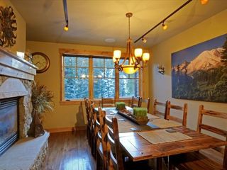 Copper Mountain townhome photo - Dining Room with a Fireplace and great views