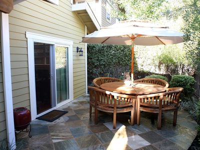 Sonoma townhome rental - Intimate outdoor space