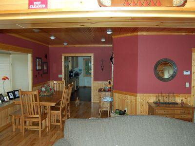 View of the Dining area and into the kitchen