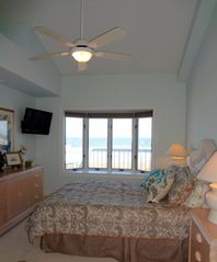 Brigantine condo photo - Master Bedroom with Stunning Ocean Views!