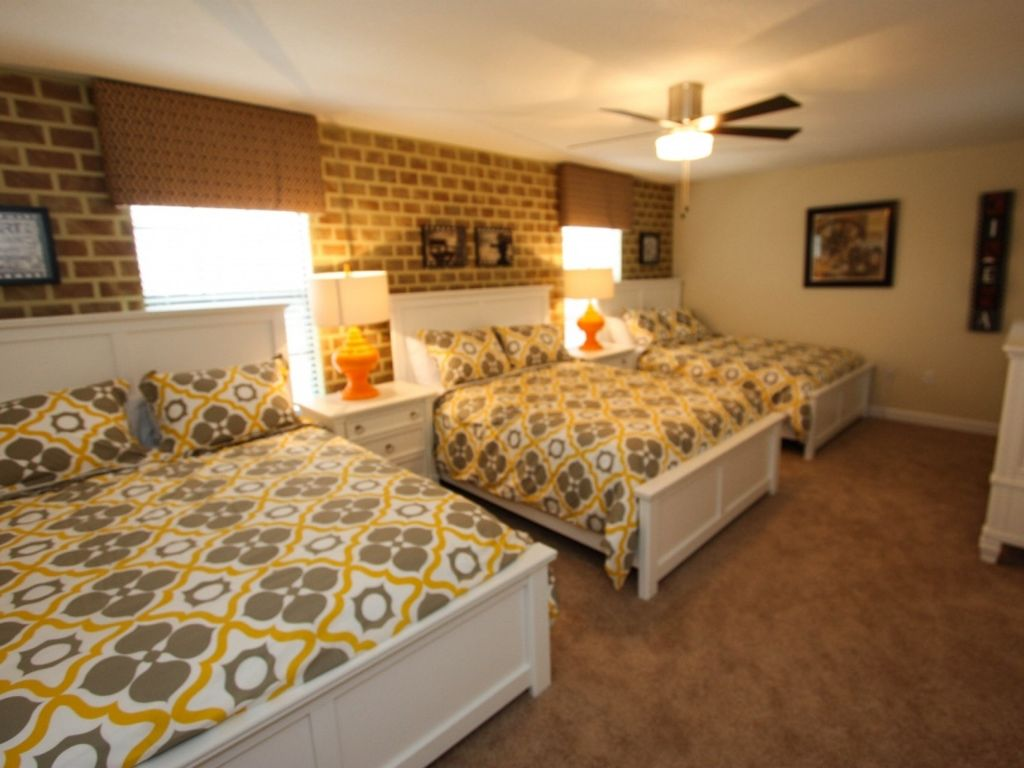 No neighbors looking at you in the back yard  professionally furnished 9 bed pool home  game room