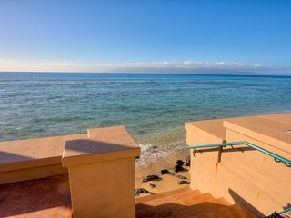 Honokowai townhome photo - Steps to the beach entry from the Makani Sands vacation rental.